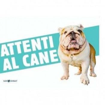 Cartello Attenti al cane Bulldog - Farm Company