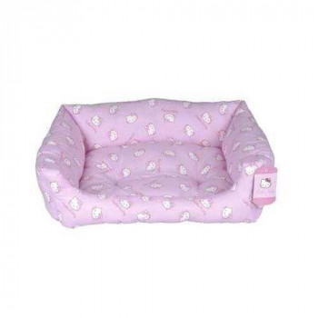 Cuccia divanetto Domino Pink cm 48x37 per cani - Hello Kitty