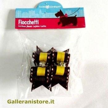 Fiocchetti giallo strass per cani - Farm Company