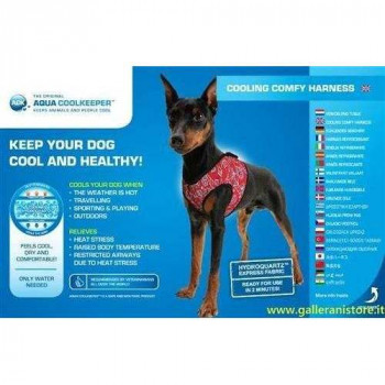 Pettorina refrigerante Rossa per cani - AQUA COOLKEEPER