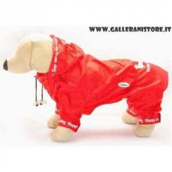 Impermeabile WILLY Leggero Rosso per cani - Linea Camon