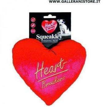 Gioco sonoro per cani Cuore Squeakley Peluche - Heart Breakers