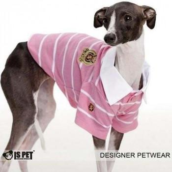Maglietta POLO CREST per cani - Rosa