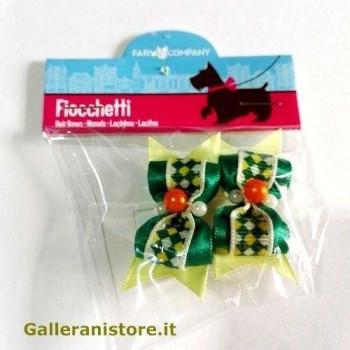 Fiocchetti Verdi con perline per cani - Farm Company